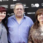Con Silvia Aparicio y Aurely Gracia con motivo de la Doble nominación Simón 2014