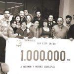 Donando la recaudación de 1 millón de pts a Intermón